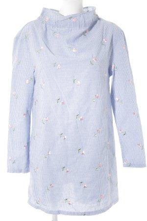 Fashion Union Blusenkleid weiß-kornblumenblau Blumenmuster Casual-Look