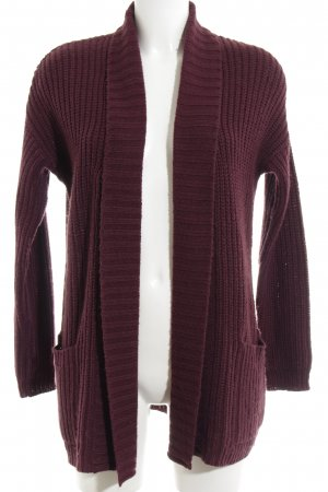 Fashion Union Coarse Knitted Jacket bronze-colored casual look