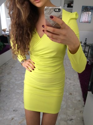 Fashion Union Lime Grünes Wickelkleid
