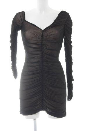 Fashion Union Schlauchkleid schwarz-creme Elegant