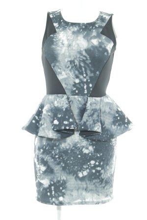 Fashion Union Vestido peplum estampado con diseño abstracto look casual