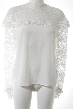 Fashion Union Blouse en dentelle blanc élégant