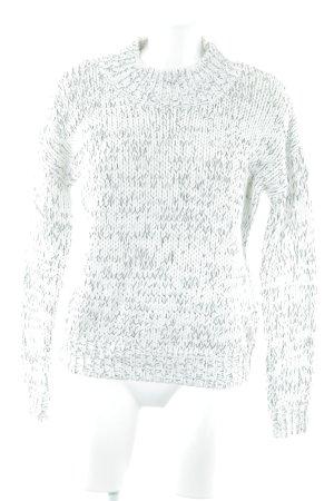 Fashion Union Strickpullover weiß-schwarz meliert Casual-Look