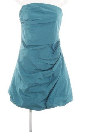Fashionart vestido de globo turquesa elegante