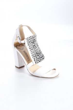 Strapped High-Heeled Sandals white-black