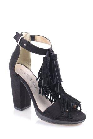 Fashionchick Sandaletten schwarz Boho-Look