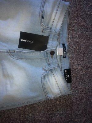 Hoge taille jeans lichtblauw