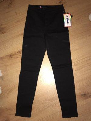Jeans taille haute noir