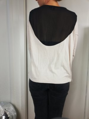 Fashionshirt Oberteil Asos Langarm beige transparent Gr. 42