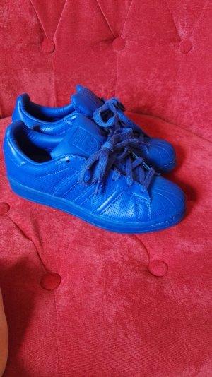 Fast neue kobaltblaue Sneakers von Adidas