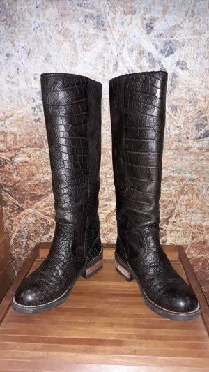 MAX Jackboots dark brown leather