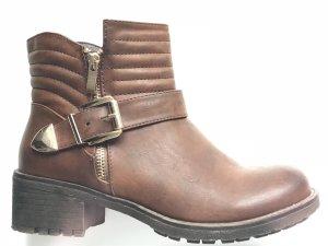 Fast ungetragene Boots braun mit goldenen Details Gr. 39