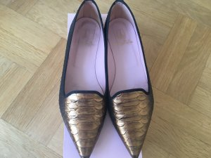 Fast wie neu! Pretty Ballerina/ Loafer in Gold Schwarz