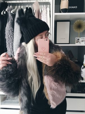 Faux Fake Fur Color rosa • Bloggerstyle • Streetlook