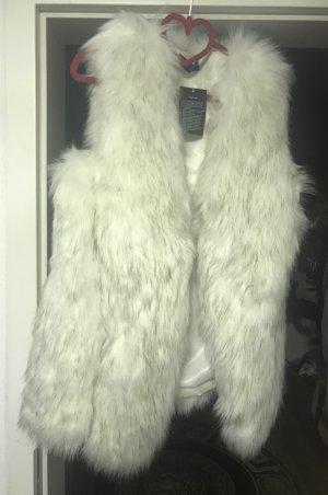 Smanicato di pelliccia bianco