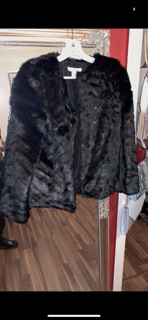 Hennes Collection by H&M Veste en fourrure noir