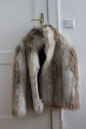Zara Pelt Coat multicolored