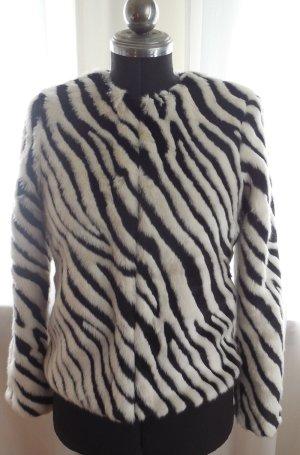 Faux Fur Jacke DIVIDED H&M Zebra WIE NEU Gr.36