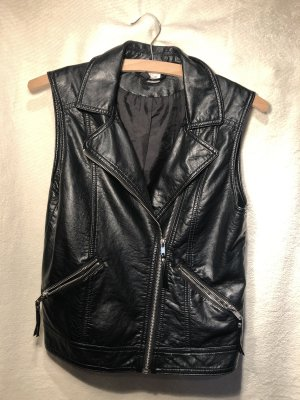 H&M Divided Leather Vest black