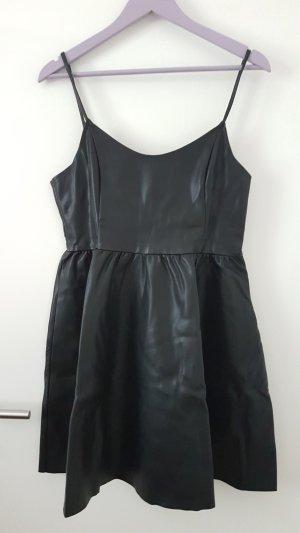 Leren jurk zwart