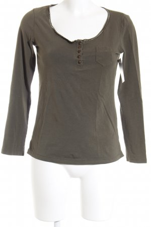 Favourite Basics U-Boot-Shirt grüngrau Casual-Look