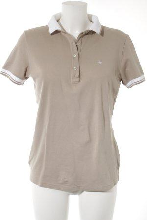FAY Polo-Shirt weiß-beige sportlicher Stil