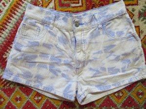 FB Fishbone Kord Shorts Batik Muster Kurze Hose High Waist Hotpants lila S 36 Festival Corduroy