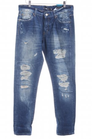 FB Sister Boyfriendjeans blau Destroy-Optik