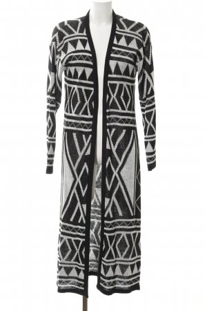 FB Sister Cardigan white-black abstract pattern casual look