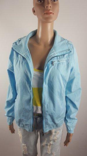 FB Sister Pea Jacket baby blue-light blue cotton