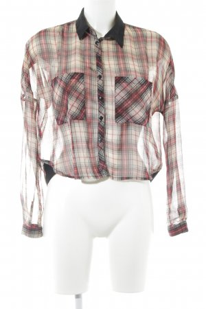FB Sister Langarm-Bluse creme-ziegelrot Streifenmuster Casual-Look