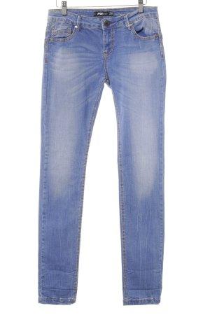 FB Sister Skinny Jeans blau Used-Optik