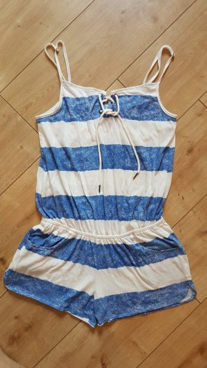 FB Sister Tenue de plage blanc-bleu acier coton