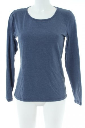FB Sister Sportshirt stahlblau-weiß Casual-Look