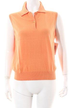Fedeli Polo-Shirt hellorange klassischer Stil