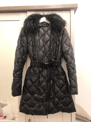 Feder Jacke mit echtem Fur aus Italien