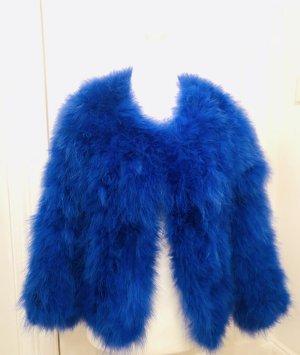 Feder Jacke von Pelli Bello 36 royalblau