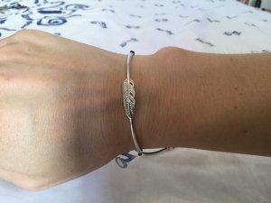 Silver Bracelet black-silver-colored real silver