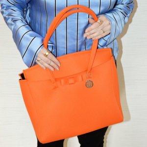 Federleichte und robuste Handtasche von Skimp France in orange - nagelneu!