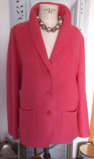 Knitted Blazer bright red-salmon mixture fibre