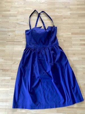 Stefanel Off the shoulder jurk blauw-paars