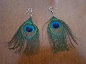 Oorbellen blauw-groen