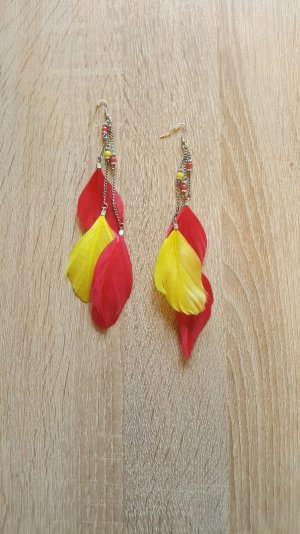 Earring yellow-red