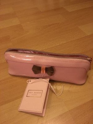 Federtasche / Pencil case TED Baker rosa mit goldener Schleife