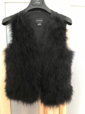 Club Monaco Fur vest black