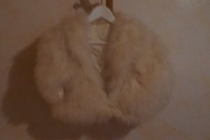 Fur vest cream-sand brown fur