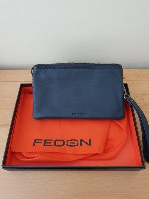 Fedon 1919 Pochette orange fluo-bleu foncé
