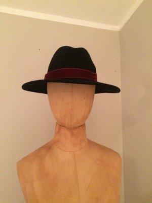 Sombrero de lana azul-púrpura Lana