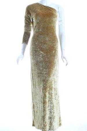 Feel Good Collection One-Shoulder-Kleid sandbraun Schimmer-Optik