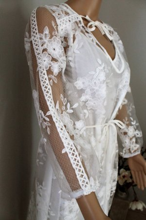 Midi-jurk wit Polyester